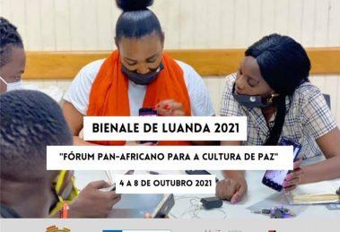 Cartaz oficial da Bienal de Luanda