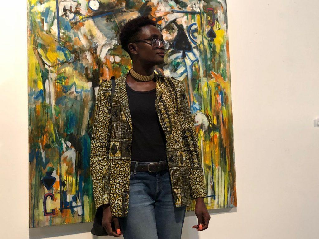 Yanira Tiny, uma das jovens que vai representar STP na Bienal de Luanda